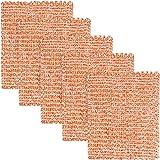 C-lean House Kupferlappen (14x12 cm) im praktischen 5er Sparset für die verblüffend saubere Reinigung - Das Kupfertuch ist phantastisch verarbeitet und kann somit überall eingesetzt Werden